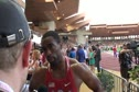 Tyson Gay runs 3rd leg on winning USA 4x1 at 2012 Herculis Monaco