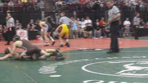 130lbs Brent Fickel Padua-OH vs. Jack Mellinger Beloit West Branch-OH