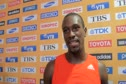 Daniel Bailey after finishing 5th in 100m final at Daegu 2011 World Championships