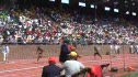 Start of Boys HS 4x1 and crowd